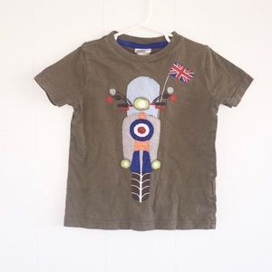 Mini Boden Size 3T-4T motorcycle graphic tee